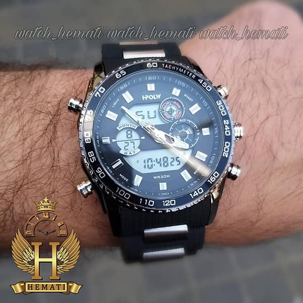 خرید انلاین ساعت مردانه دو زمانه اچ پلو HPOLW H9905 مشکی_نقره ای