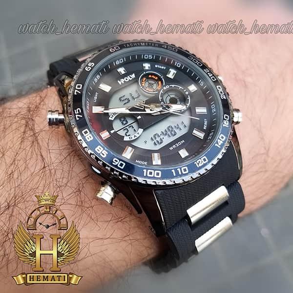 قیمت ساعت مردانه دو زمانه اچ پلو HPOLW H9905 مشکی_نقره ای