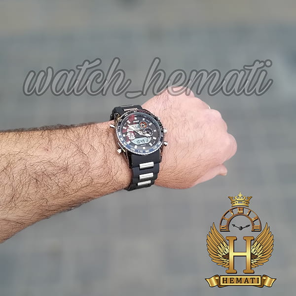 مشخصات ساعت مردانه دو زمانه اچ پلو HPOLW H9905 مشکی_نقره ای