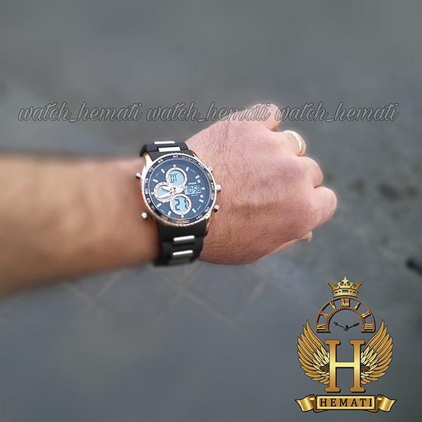 خرید ساعت مردانه دو زمانه اچ پلو HPOLW H9908 مشکی_رزگلد