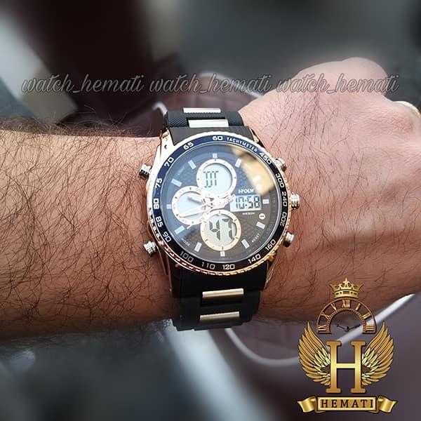 خرید اینترنتی ساعت مردانه دو زمانه اچ پلو HPOLW H9908 مشکی_رزگلد