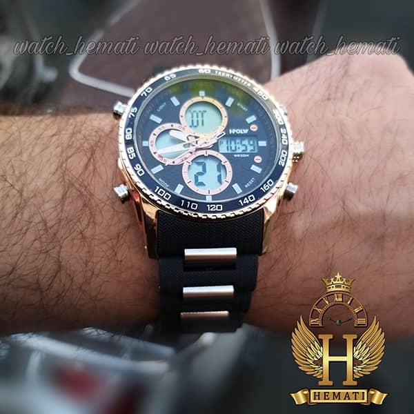 قیمت ساعت مردانه دو زمانه اچ پلو HPOLW H9908 مشکی_رزگلد