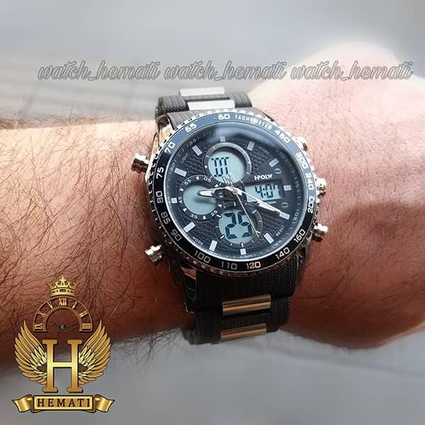 خرید ساعت مردانه دو زمانه اچ پلو HPOLW H9908 مشکی_نقره ای