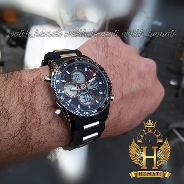 ساعت مردانه دو زمانه اچ پلو HPOLW H9908 مشکی_نقره ای