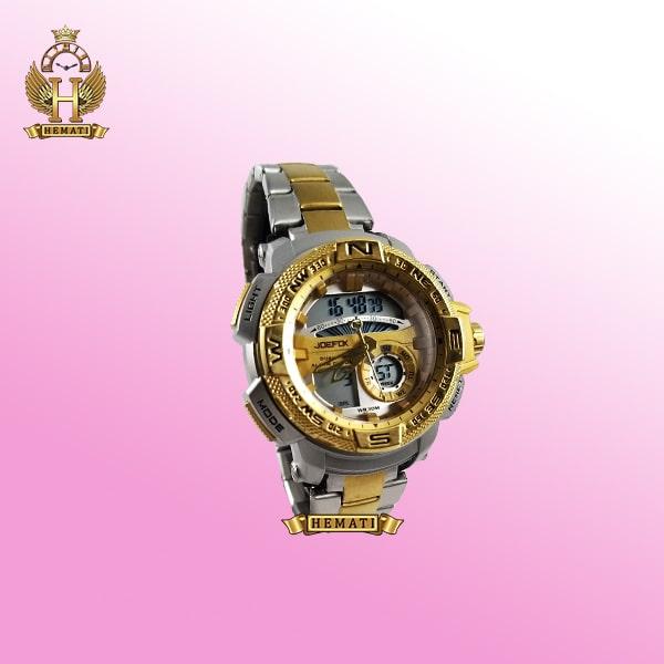 ساعت اسپرت دو زمانه جوفاکس مدل JOEFOX 1514L نقره ای طلایی