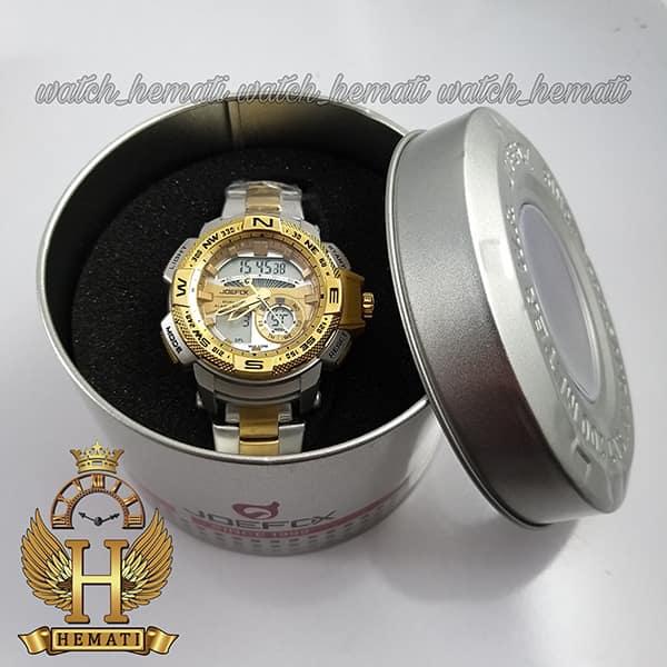 خرید ساعت اسپرت دو زمانه جوفاکس مدل JOEFOX 1514L نقره ای طلایی