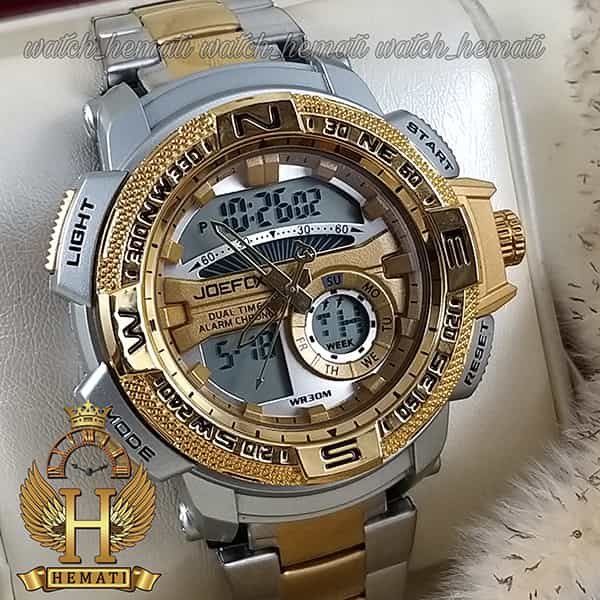 قیمت ساعت اسپرت دو زمانه جوفاکس مدل JOEFOX 1514L نقره ای طلایی