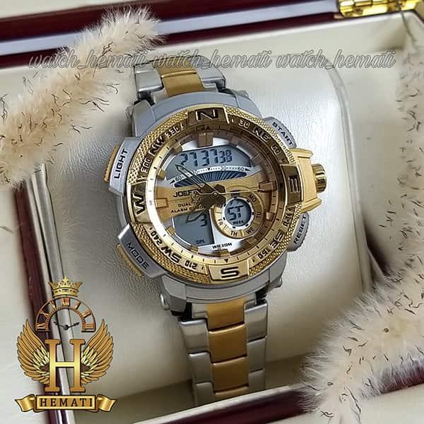مشخصات ساعت اسپرت دو زمانه جوفاکس مدل JOEFOX 1514L نقره ای طلایی