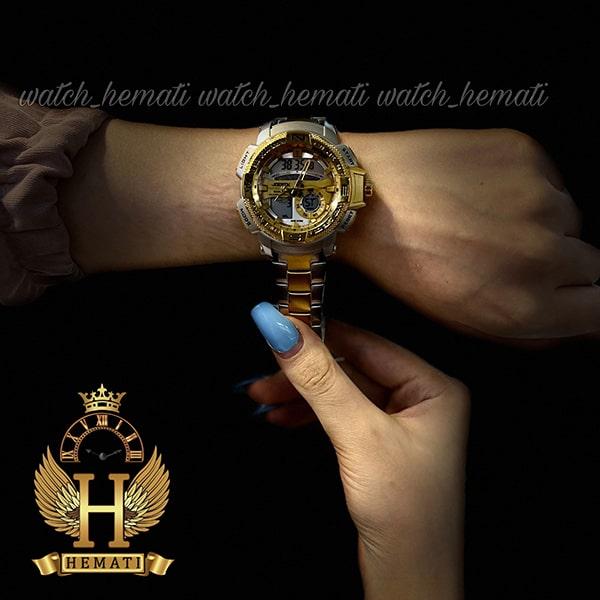 خرید اینترنتی ساعت اسپرت دو زمانه جوفاکس مدل JOEFOX 1514L نقره ای طلایی