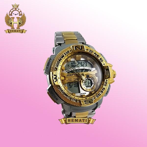 ساعت مردانه دو زمانه جوفاکس مدل JOEFOX 1514G نقره ای طلایی