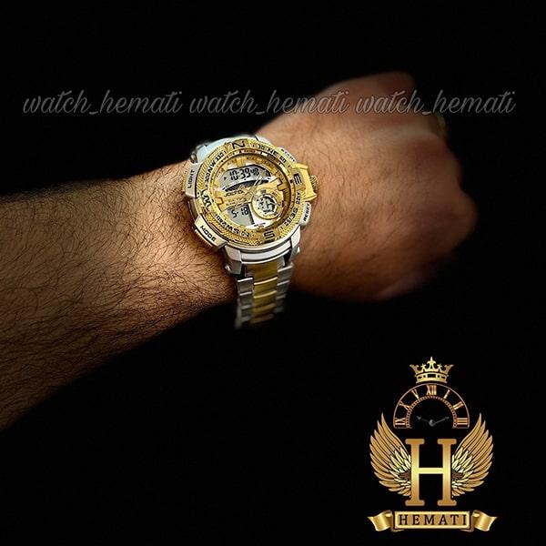 خرید ساعت مردانه دو زمانه جوفاکس مدل JOEFOX 1514L نقره ای طلایی