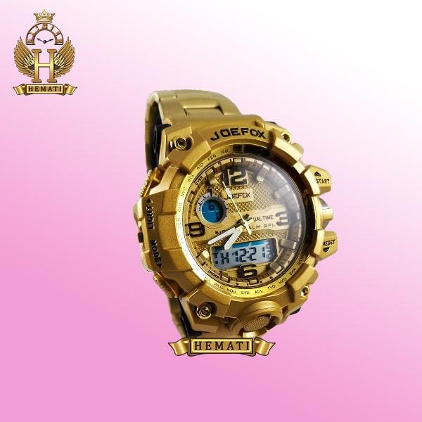 ساعت مردانه دو زمانه جوفاکس JOEFOX 1523G طلایی