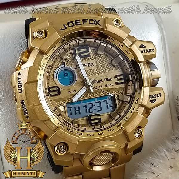 مشخصات ساعت مردانه دو زمانه جوفاکس JOEFOX 1523G طلایی