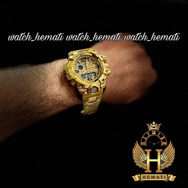خرید ساعت مردانه دو زمانه جوفاکس JOEFOX 1523G طلایی
