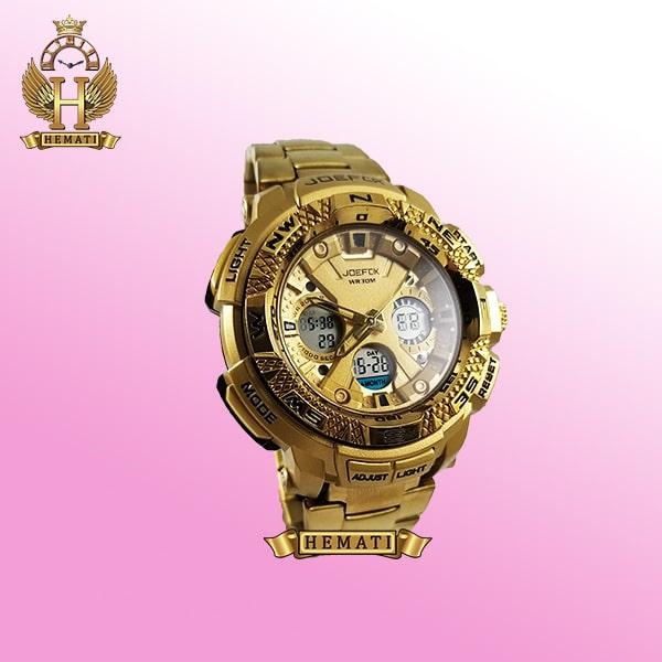 خرید ساعت مچی مردانه دو زمانه جوفاکس JOEFOX 1817G طلایی