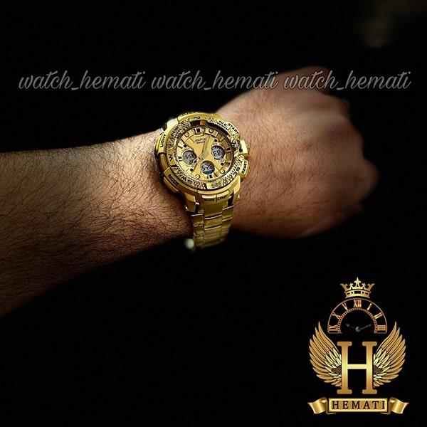 مشخصات ساعت مردانه دو زمانه جوفاکس JOEFOX 1817G طلایی