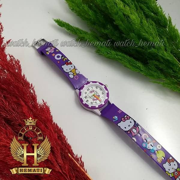 خرید ، قیمت ، مشخصات ساعت دخترانه کیتی عقربه ای بنفش