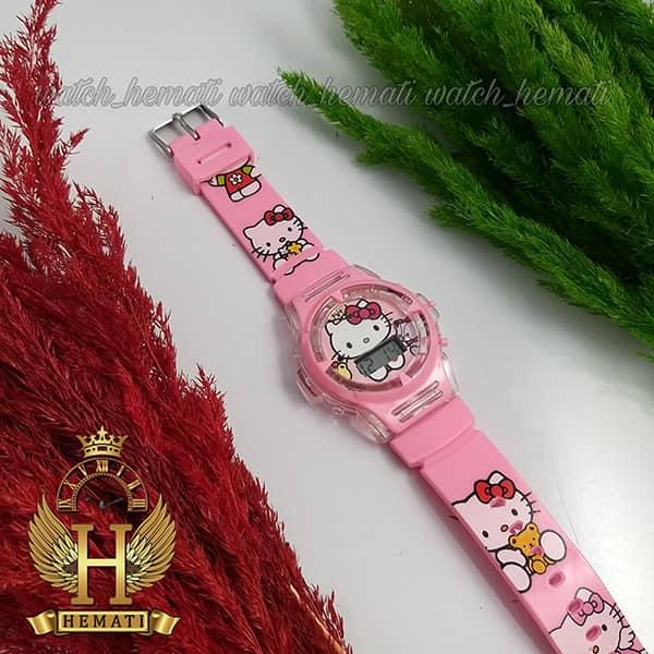 خرید ، قیمت ، مشخصات ساعت دخترانه کیتی دخترانه موزیکال و چراغ دار صورتی