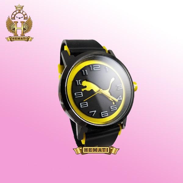 ساعت مردانه پوما PUMA PM107 مشکی_زرد ، قطر 48 میلیمتر