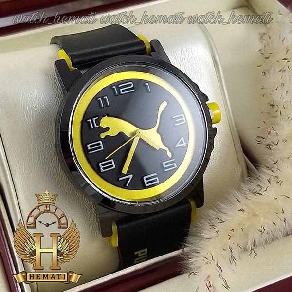 خرید ، قیمت ، مشخصات ساعت مردانه پوما PUMA PM107 مشکی_زرد ، قطر 48 میلیمتر