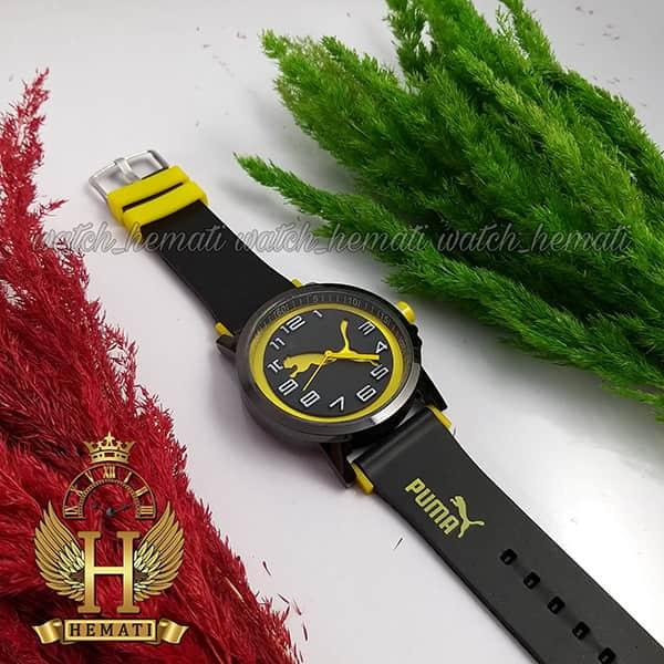 خرید ارزان ساعت مردانه پوما PUMA PM107 مشکی_زرد ، قطر 48 میلیمتر
