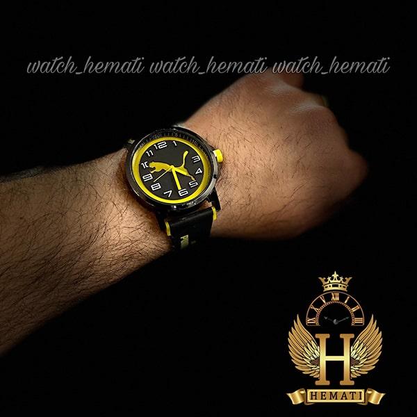 خرید انلاین ساعت مردانه پوما PUMA PM107 مشکی_زرد ، قطر 48 میلیمتر
