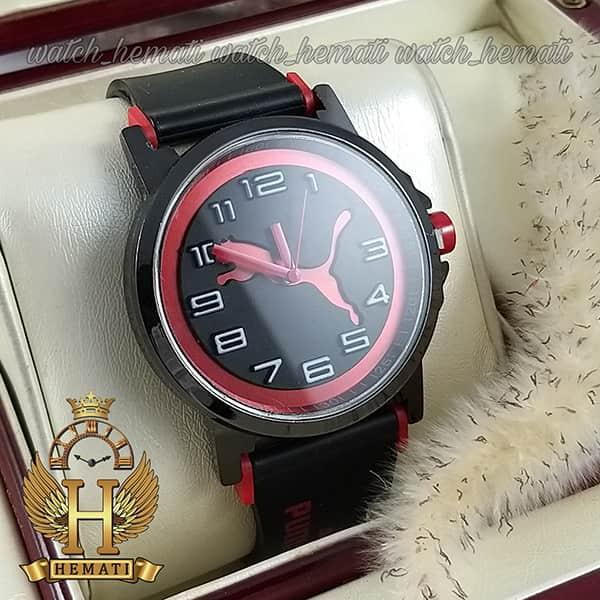 خرید ، قیمت ، مشخصات ساعت مردانه پوما PUMA PM109 مشکی_قرمز ، قطر 48 میلیمتر