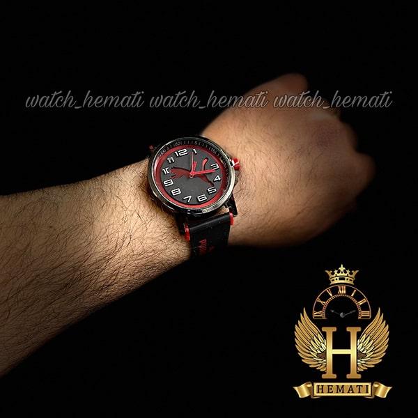خرید انلاین ساعت مردانه پوما PUMA PM109 مشکی_قرمز ، قطر 48 میلیمتر