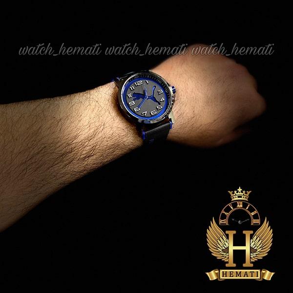 خرید انلاین ساعت مردانه پوما PUMA PM106 مشکی_آبی ، قطر 48 میلیمتر