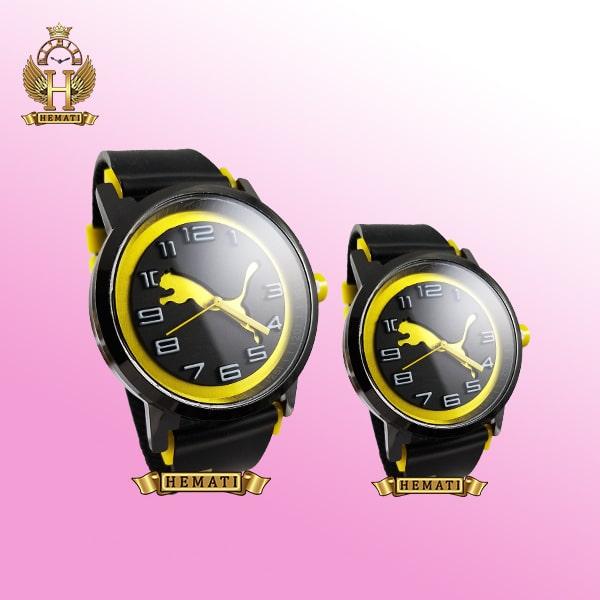 خرید ، قیمت ، مشخصات ساعت ست زنانه و مردانه پوما PUMA PM111 مشکی_زرد