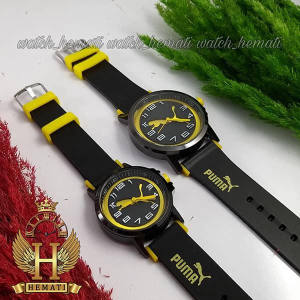 خرید اینترنتی ساعت ست زنانه و مردانه پوما PUMA PM111 مشکی_زرد
