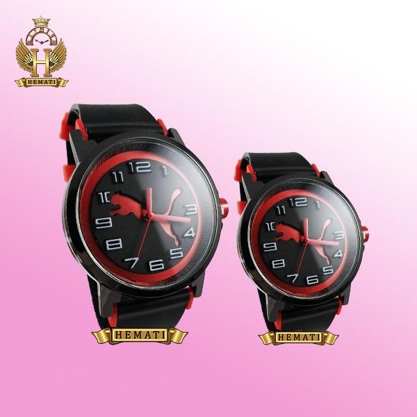 خرید ، قیمت ، مشخصات ساعت ست زنانه و مردانه پوما PUMA PM113 مشکی_قرمز