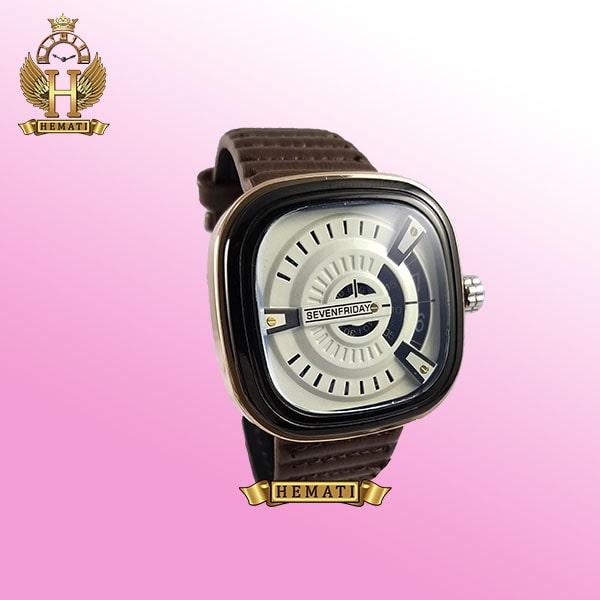 خرید ساعت مردانه سون فرایدی SF-P2/01-A0127 قاب مشکی-رزگلد بند قهوه ای چرمی
