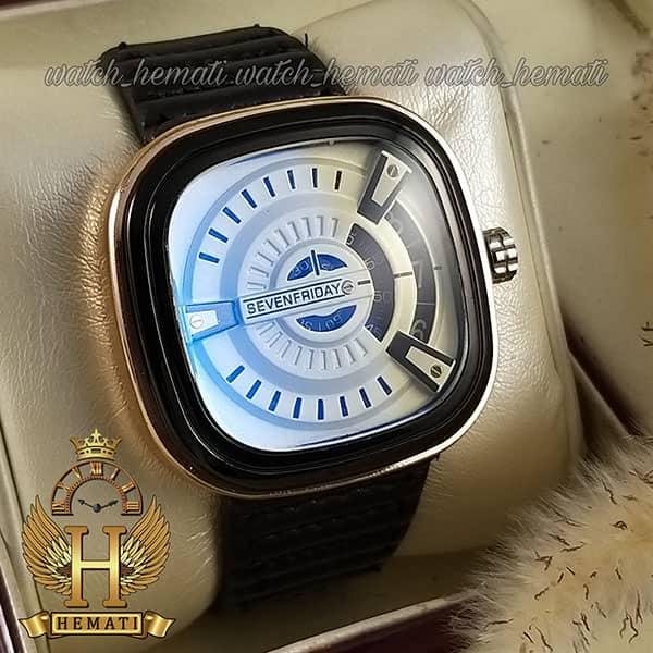 ساعت مردانه سون فرایدی های کپی ارزان قیمت SF-P2/01-A0127 قاب مشکی-رزگلد بند چرم مشکی