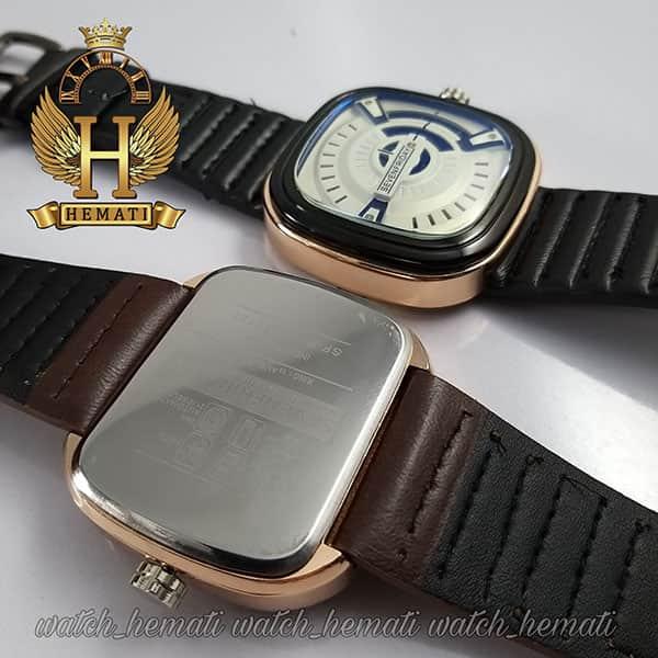 ساعت مردانه سون فرایدی های کپی ارزان قیمت SF-P2/01-A0127 قاب مشکی-رزگلد در رنگبندی بند چرم