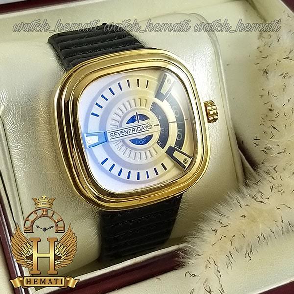 خرید ساعت مردانه سون فرایدی SF-P2/01-A0127 قاب طلایی بند چرم مشکی