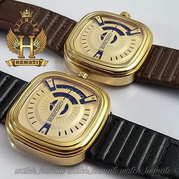 ساعت مردانه سون فرایدی SF-P2/01-A0127 قاب طلایی در رنگبندی بند چرم