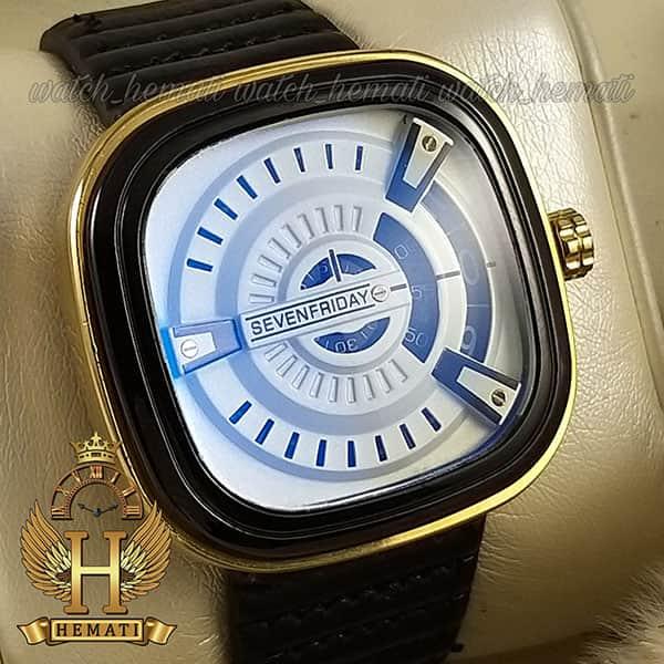 خرید ساعت مردانه سون فرایدی SF-P2/01-A0127 قاب مشکی-طلایی بند چرم مشکی