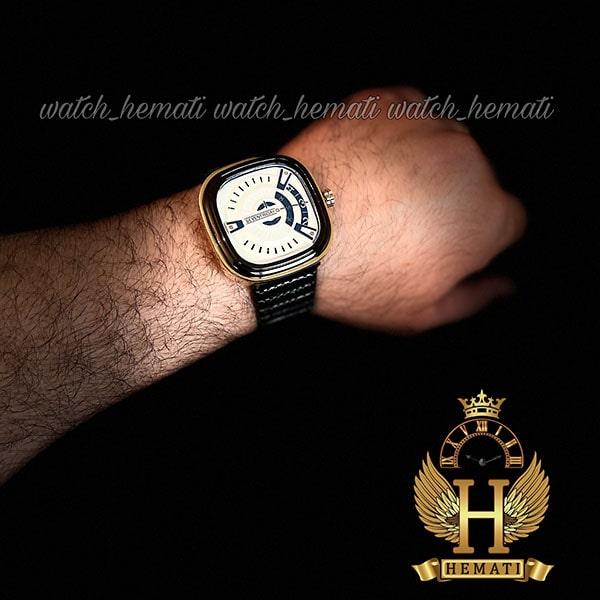 قیمت ساعت مردانه سون فرایدی SF-P2/01-A0127 قاب مشکی-طلایی بند چرم مشکی