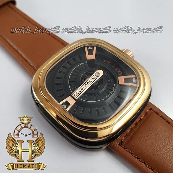 ساعت سون فرایدی های کپی ارزان قیمت مردانه مدل SL-F2/02-R0128 رزگلد-مشکی بند عسلی