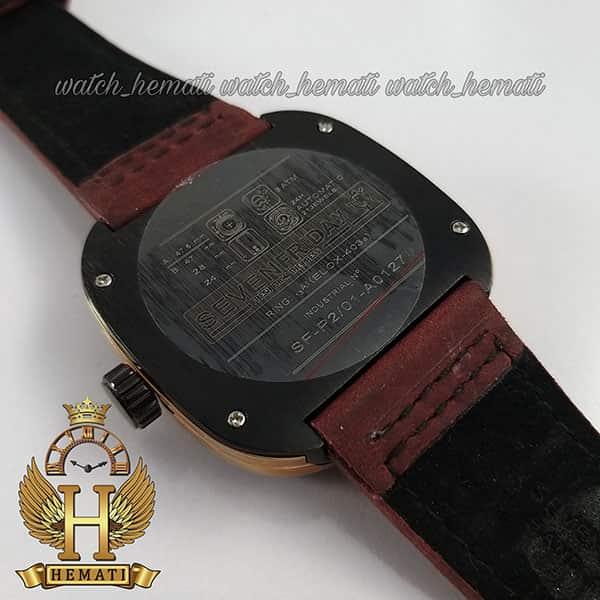خرید ساعت مردانه سون فرایدی های کپی ارزان قیمت مدل SA-D2/01-M1409 مشکی-رزگلدبا بند چرم زرشکی
