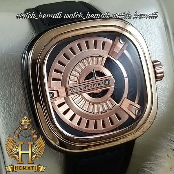 خرید ساعت مچی سون فرایدی مردانه های کپی ارزان قیمت مدل PF-M3/05-G140 قاب مشکی-رزگلد بند مشکی