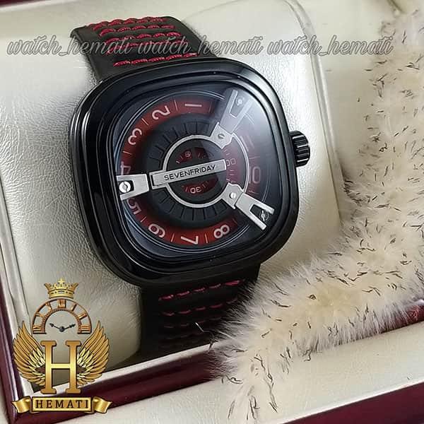 خرید اینترنتی ساعت مچی سون فرایدی مردانه های کپی ارزان قیمت مدل SA-D2/01-M1409 مشکی-قرمز موتور ژاپن کیفیت عالی