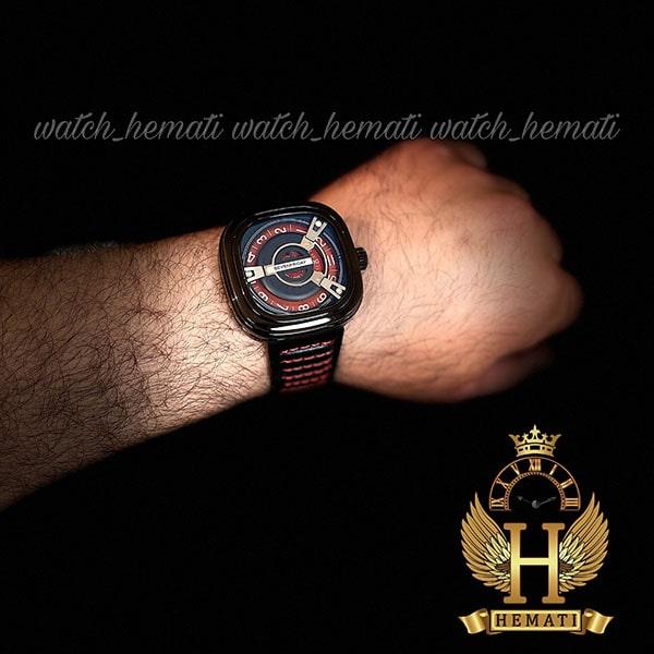 قیمت ساعت مچی سون فرایدی مردانه های کپی ارزان قیمت مدل SA-D2/01-M1409 مشکی-قرمز موتور ژاپن کیفیت عالی
