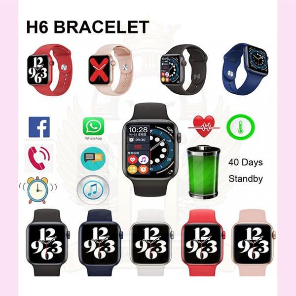 ساعت هوشمند کپی سری 6 اپل واچ مدل H6