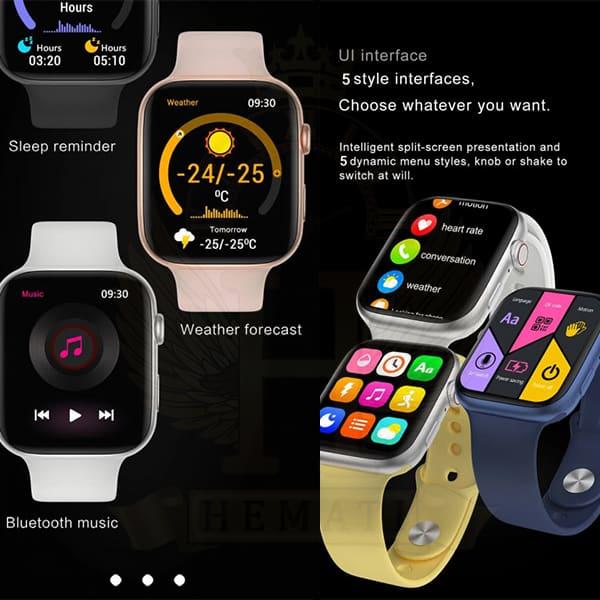 خرید ارزان ساعت هوشمند یا اسمارت واچ HT99 رنگ مشکی