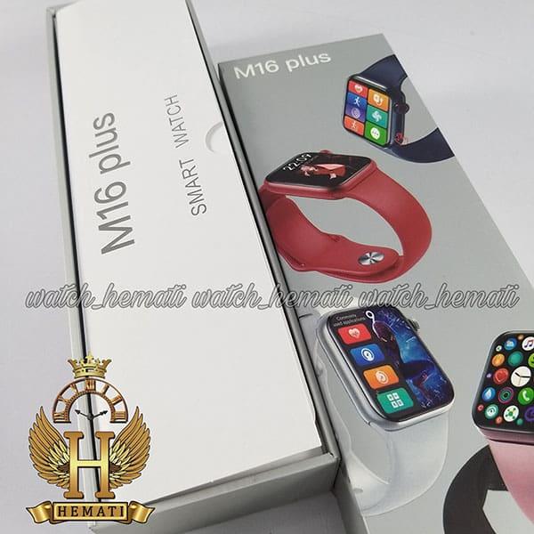 خرید ساعت هوشمند مدل M16 plus پلاس کپی سری 6 اپل واچ به رنگ مشکی