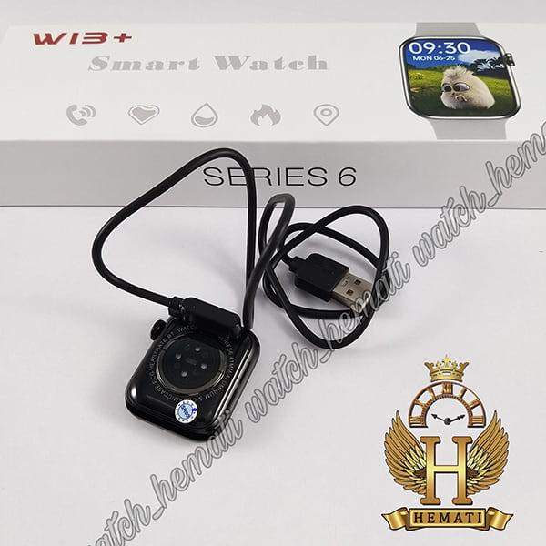 خرید اینترنتی اسمارت واچ مدل W13 plus پلاس کپی سری 6 اپل واچ به رنگ مشکی
