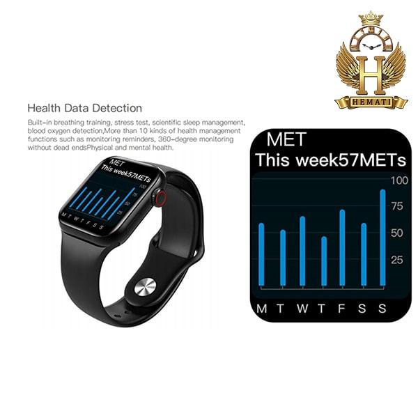 خرید ساعت هوشمند W13 plus پلاس کپی سری 6 اپل واچ به رنگ مشکی