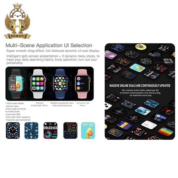 مشخصات ساعت هوشمند W13 plus پلاس کپی سری 6 اپل واچ به رنگ مشکی